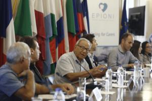 Professor of Psychiatry George Christodoulou President Society of Preventive Psychiatry at Epioni Meeting