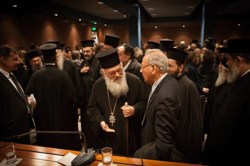 Archbishop Ieronymos - Αρχιεπίσκοπος Ιερώνυμος - Professor George Christodoulou - Καθηγητής Γεώργιος Χριστοδούλου