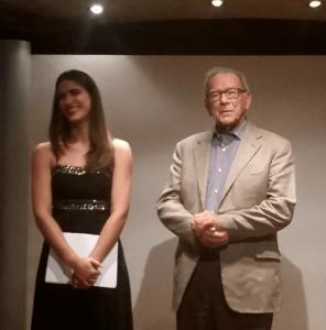 Soprano Eleanna Konstanta with Professor George Christodoulou.